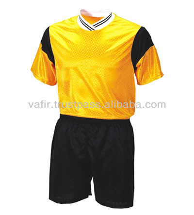 2017 Soccer Uniform yellow jersey and Black shorts