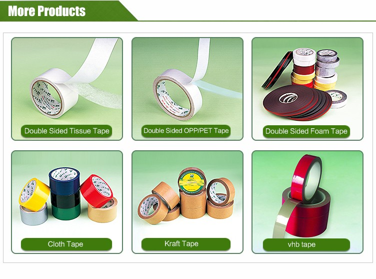 Hot sell carrier tissue double sided adhesive tape