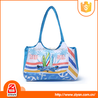 Multifunctional PVC plastic highlighted tote beach bag