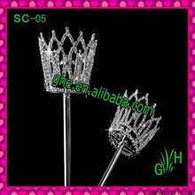 Wholesale Beauty design pageant rhinestone scepter for party