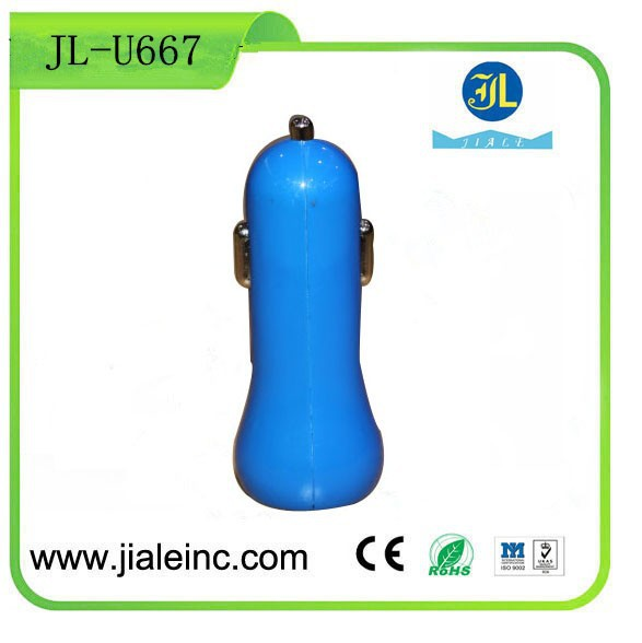 Promotional USB Car Charger Cell phone accessory Wholesale portable charger