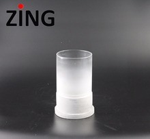 wholesale candle factory making frost effect glass luxury scented candle jar /candle holder for wedding decoration centerpiece