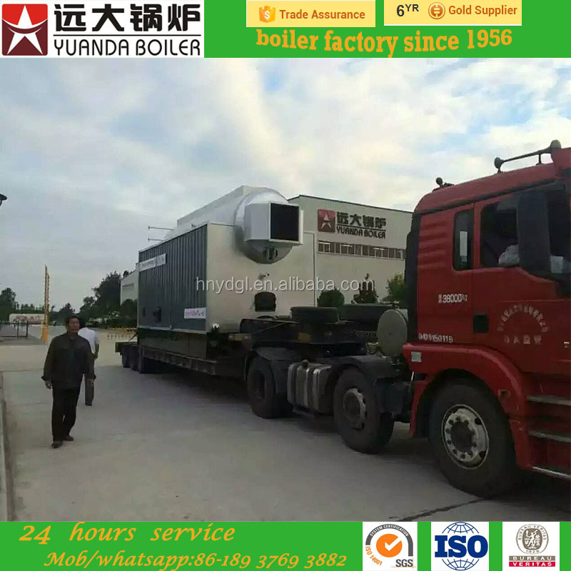 4ton high efficiency trade assurance big size wood/logs fired steam boiler