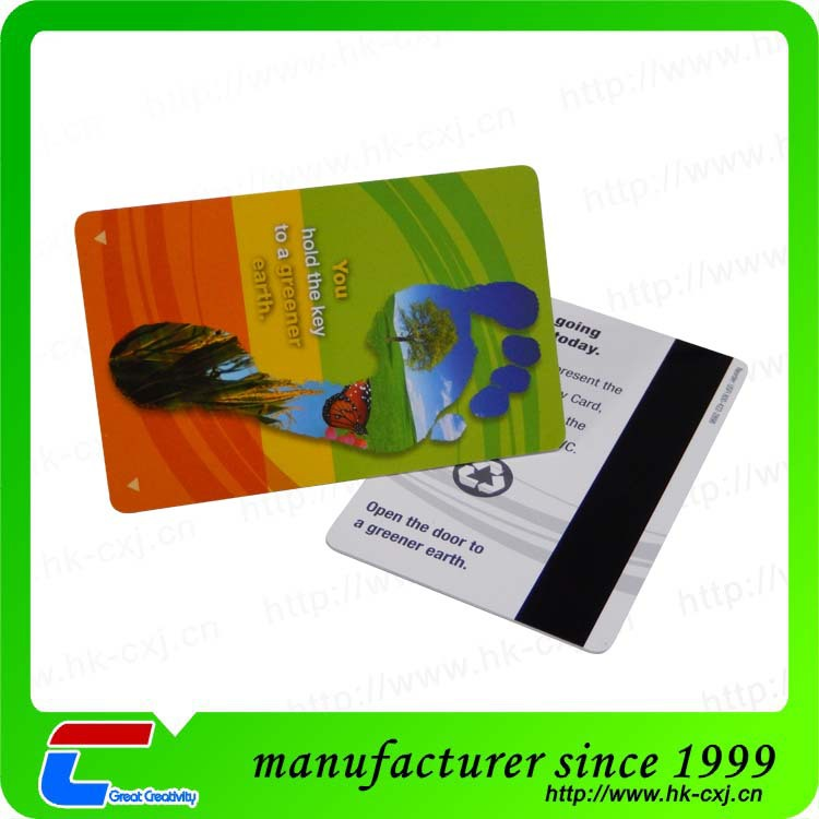 Factory Price Custom Plastic Hotel Key Cards With Magnetic Strip