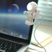 Hot Sale Creative Spaceman Astronaut LED Flexible USB Light for Laptop