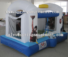 Inflatable nylon bouncer with basketball hoop inside for sale SP-MB021