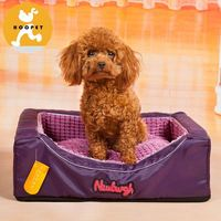 Purple pet bedding cheap dog bed with memory foam
