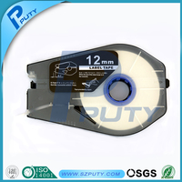 Compatible 12mm white label tapes PT-1112W cable id label for cable id printer mk2500