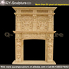 Cheap indoor used fireplace mantel with marble fireplace