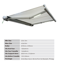 best Full Cassette Retractable Awnings waterproof with pu coating