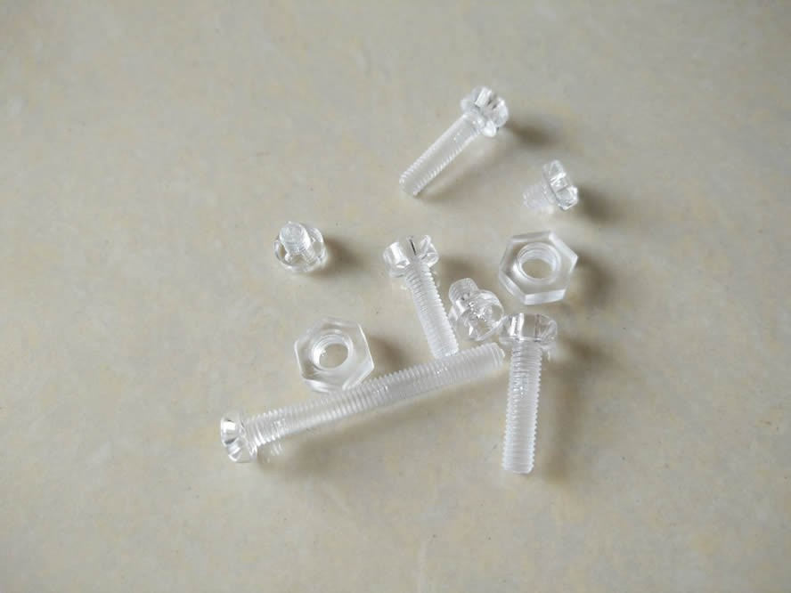 plastic screw,pc screw, clear screw