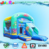 commercial inflatable bouncer combo game with slide for sale