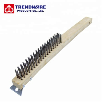 Metal Cleaning Tool BBQ Wire Brush and Scraper