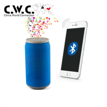 wireless music custom PVC cartoon can shaped speaker for gift promotion with free sample