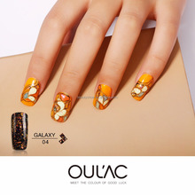 2018 OULAC Beauty Salons Supplies Nail Art Design 8 colors Private Label Galaxy Gel Polish