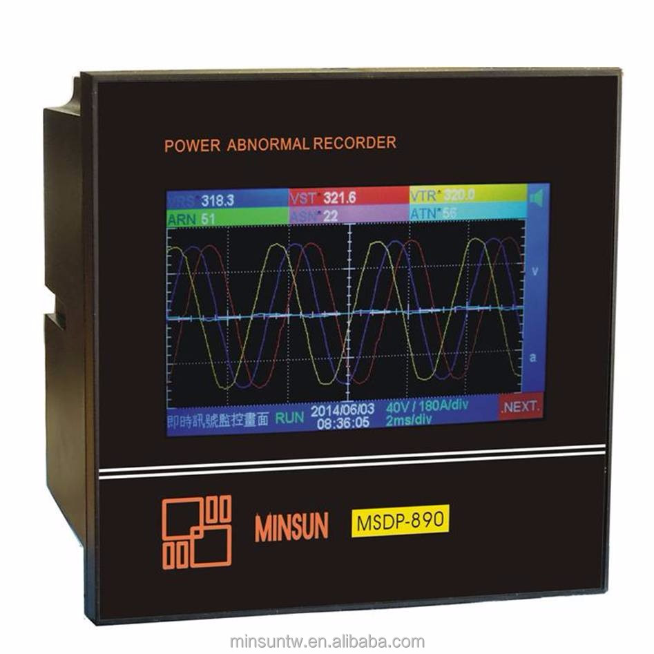 MSDP-890 LCD Display Touch Input Power Abnormal Recorder and Analyzer Power Meter CE Certification