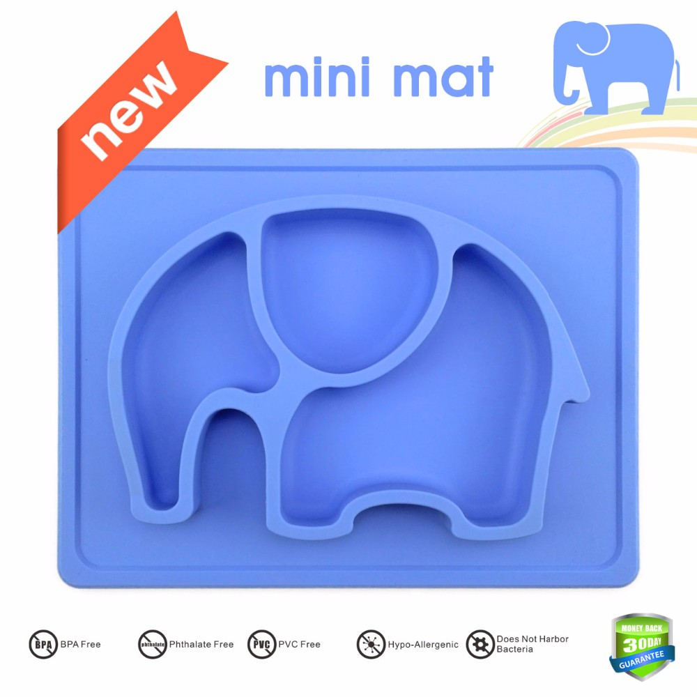 Food Grade Mini Silicone Baby Placemat, Plates, Bowl For Kids