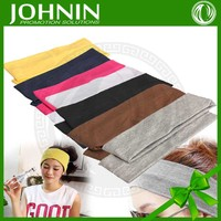 Promotional customed screen printing wholesale colourful sport headband