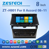 8'' in dash dvd player for honda accord 2008 2009 2010 2011 with radio,dvd,swc, bluetooth, tv