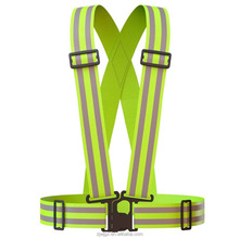 Reflective Vest (2 Pack) | Lightweight, Adjustable & Elastic | Safety & High Visibility for Running, Jogging, Walking, Cycling |