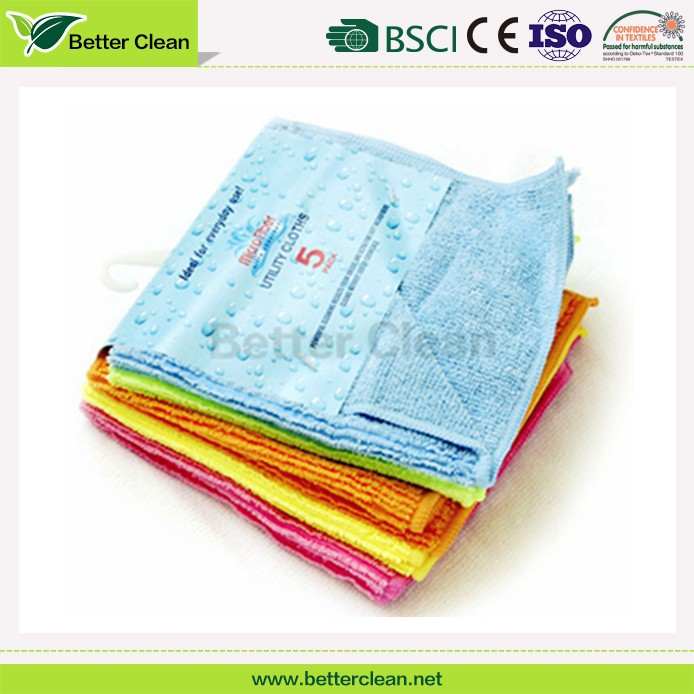 Stronger water absorbent yarn dyed washable microfiber cloth in bulk