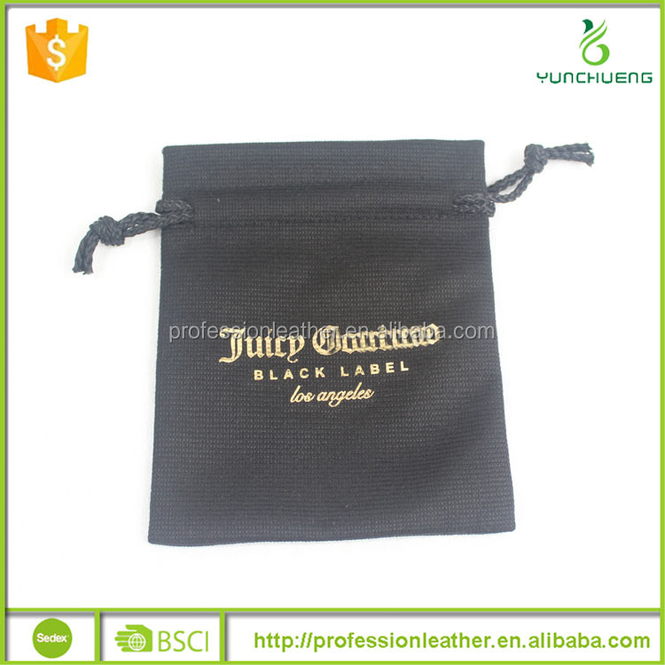 Gold Foil Printing Calico Bag Jewelry Dust Bag with Drawstring, Cloth Jewelry Bags