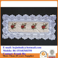 printed polyester cheap lace placemats sets and doilies