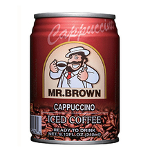 MR BROWN canned ready to drink iced instant coffee tin 240ml cappuccino espresso medium roast original manufacturer factory