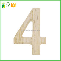 Classic Font Wood Letters & Numbers -Number 4