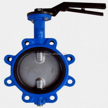 hand lever operated lugged butterfly valve