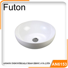 Thin ceramic art basin with European design quality porcelain vessel sink vanity round basin