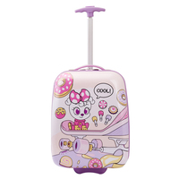 Hard Shell ABS And PC Rolling Luggage Kids Girl Trolley Case For Children