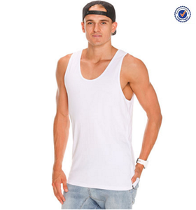 Wholesale mens cotton plain white singlet