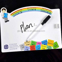 Custom magnetic whiteboard stick on fridge with pen for gifts