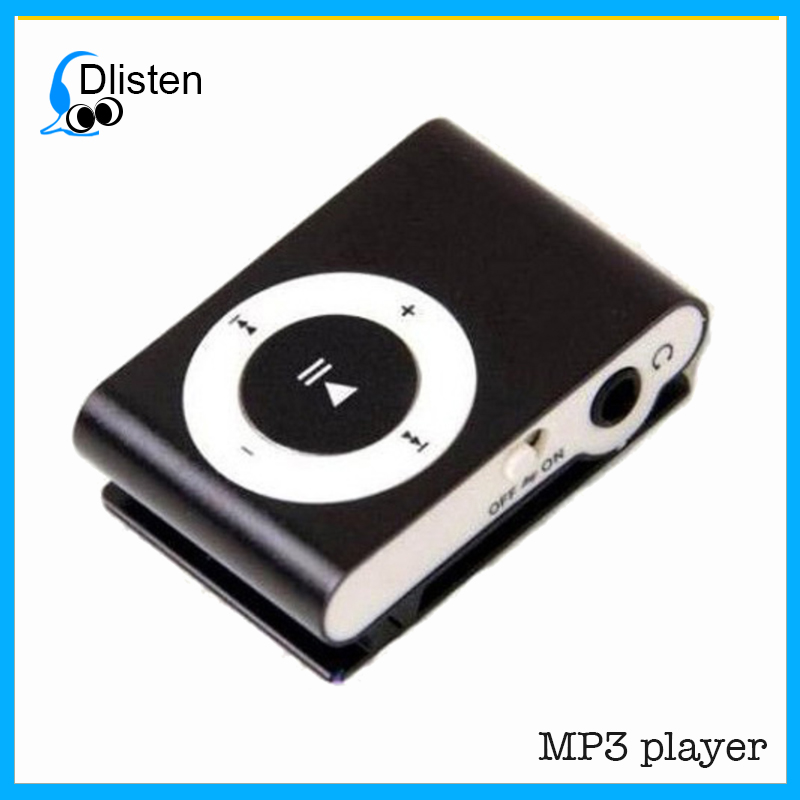 Cute Design Simple Mini Clip Metal USB MP3 Player Support 32GB SD TF Card Music Media Best Gift