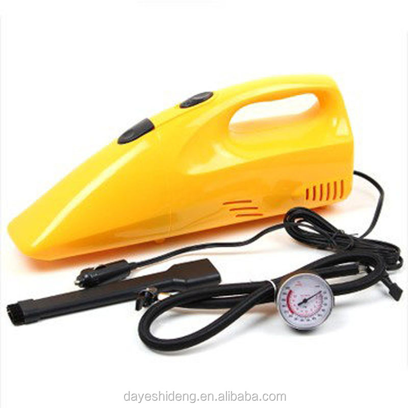 car vacuum cleaner & tire inflator 12V yellow Mini Handheld Car Auto Vacuum Cleaner Portable Rechargeable