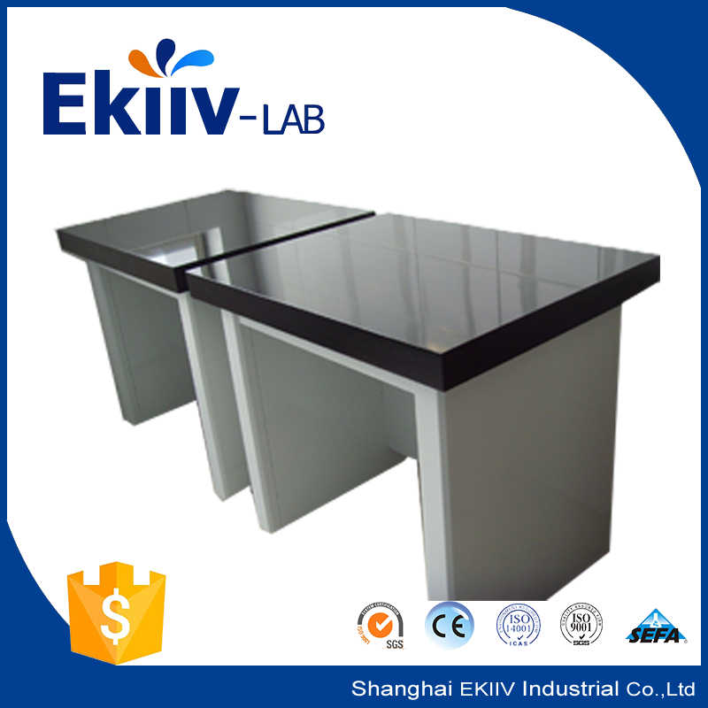 Chemistry Lab Furniture Marble Countertop Steel Lab Vibrating Table With Drawers