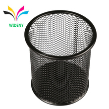 Wideny black high quality desktop mesh metal wire clip spring pen pen holder