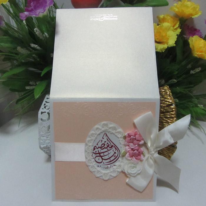 Modern latest light pink lace wedding invitation card with ribbon modern latest light pink lace wedding invitation card with ribbon stopboris Gallery