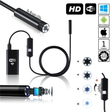HD 720P Wireless WiFi Borescope Endoscope Inspection Video Snake Camera with Zoom for iPhone and Android