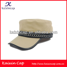 Khaki Soild Blank Army Military Baseball Flat Top Cap And Hat/Custom Military Cap Hat With Custom Logo