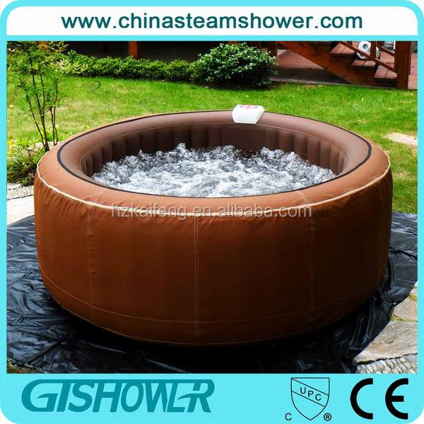 Inflatable Removable Camping Bathtub, 6 Person, Brown, Synthetic Leather