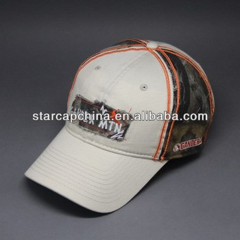 CHEAP CUSTOM APPLIQUE EMBROIDERY CAMOUFLAGE BASEBALL CAP