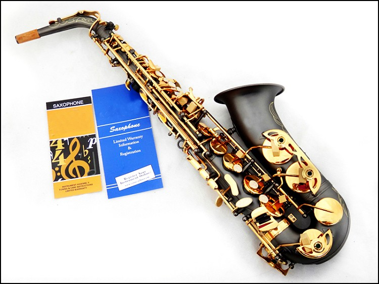 Alto saxophone, black matt finish