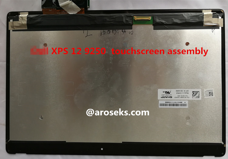 For Dell XPS 12 9250 LQ125M1JW31 DP/N 0814WM touchscreen assembly