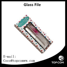 Mini Glass Nail File Embellished with Crystals and Pearls with Rigid Hard Case foot files
