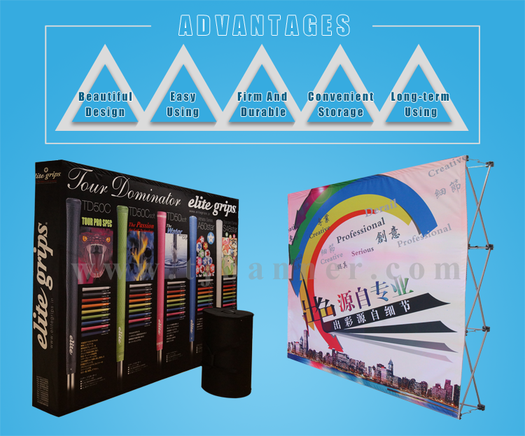 Folding durable pop up backdrop display stand