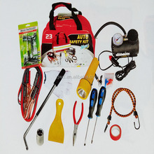 first aid kit car safety emergency kit roadside assistant tools, car emergency tool kit with air compressor
