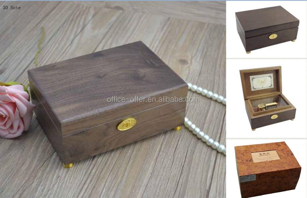Juglans Regia(Walnut Black) 18/30/36/50/78 Note Music Movement Engraved Wooden Music Box