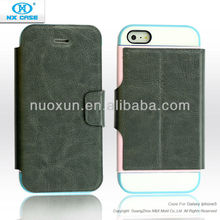 Top quality wallet leather flip case cover for iphone 5 5g